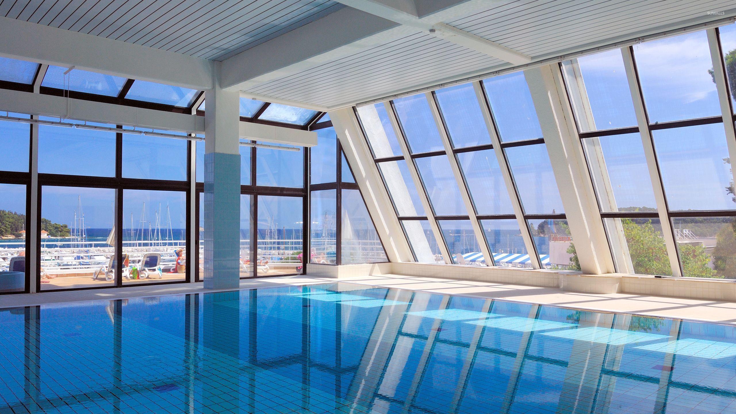 Indoor school swimming pool