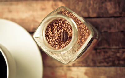 Instant coffee in a jar wallpaper