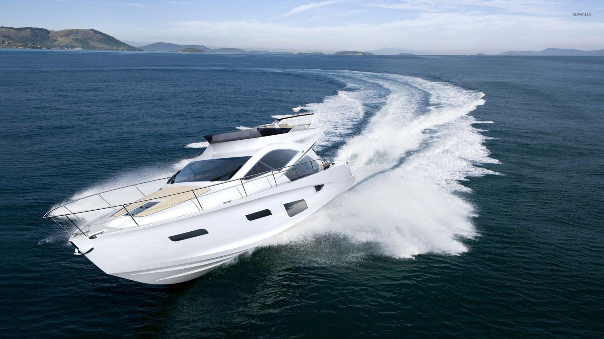 intermarine 55 luxury yacht wallpaper photography
