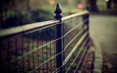 Iron fence wallpaper
