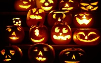 Jack-o'-lanterns wallpaper 1920x1080 jpg