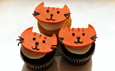 Kitten cupcakes wallpaper