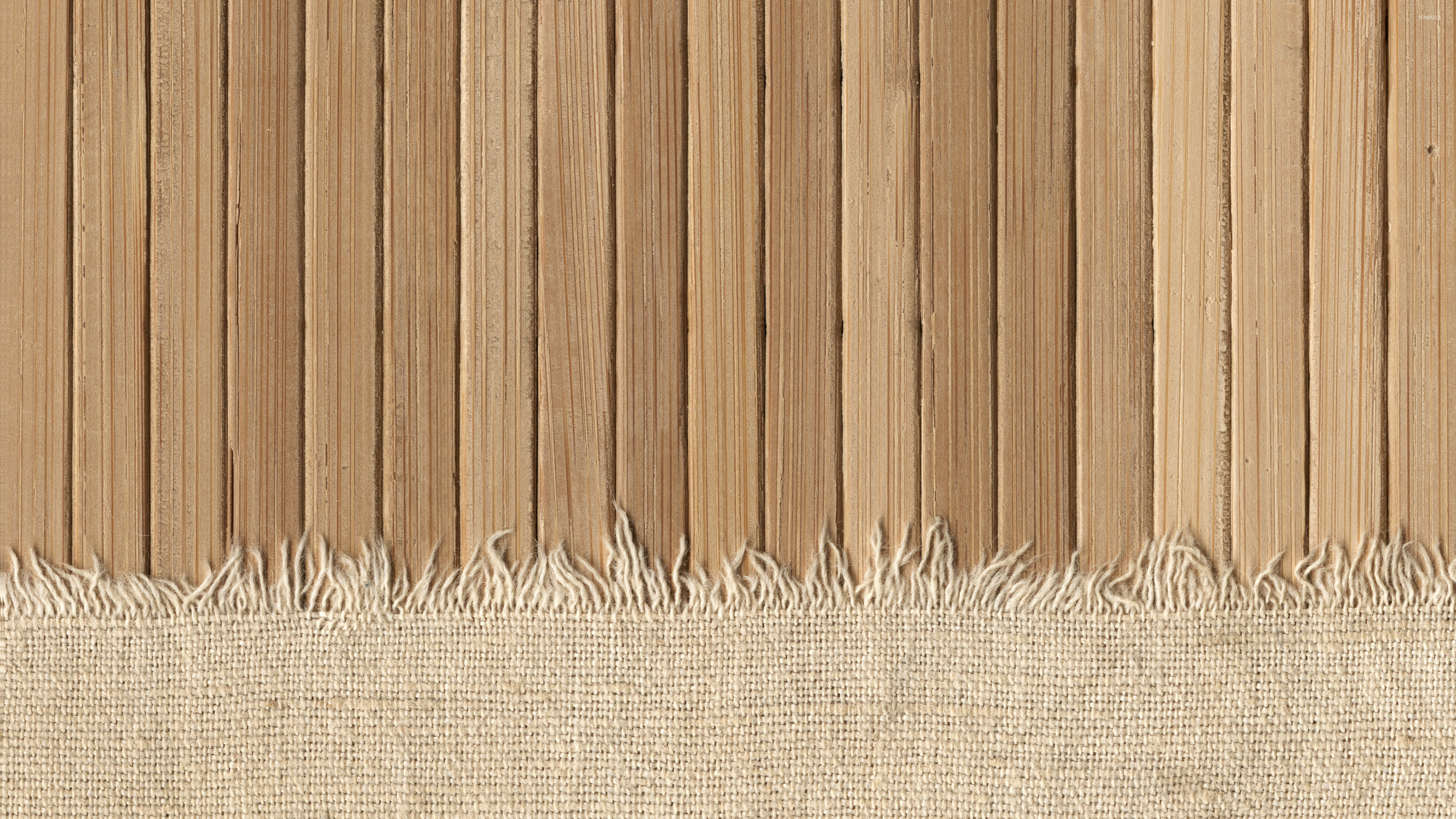 Covering Paneling With Fabric : Knit fabric covering the wooden panels wallpaper