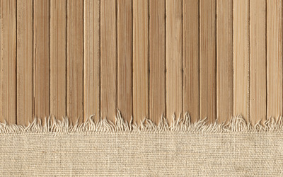 Knit fabric covering the wooden panels wallpaper