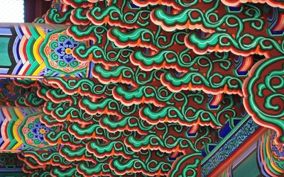 Korean temple details wallpaper