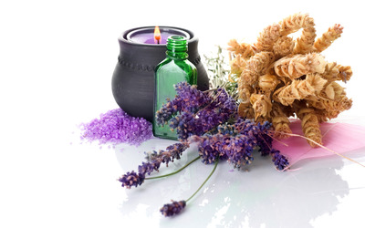 Lavander and candle [2] wallpaper