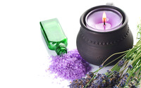 Lavander and candle wallpaper 2560x1600 jpg