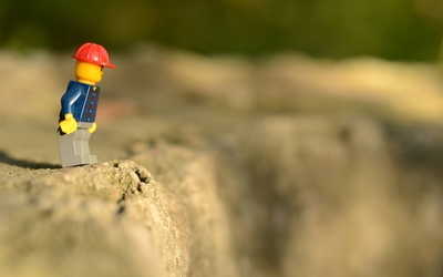 Lego man on the edge wallpaper