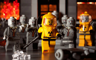 Lego zombies wallpaper