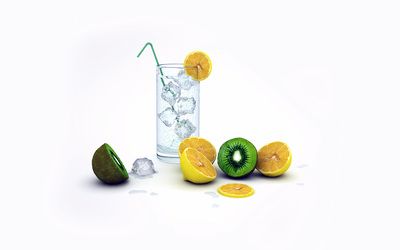 Lemons and Kiwis wallpaper