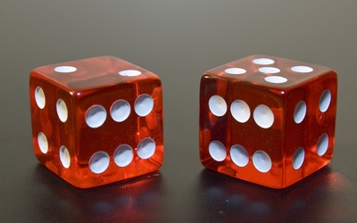 Lucky red dice wallpaper