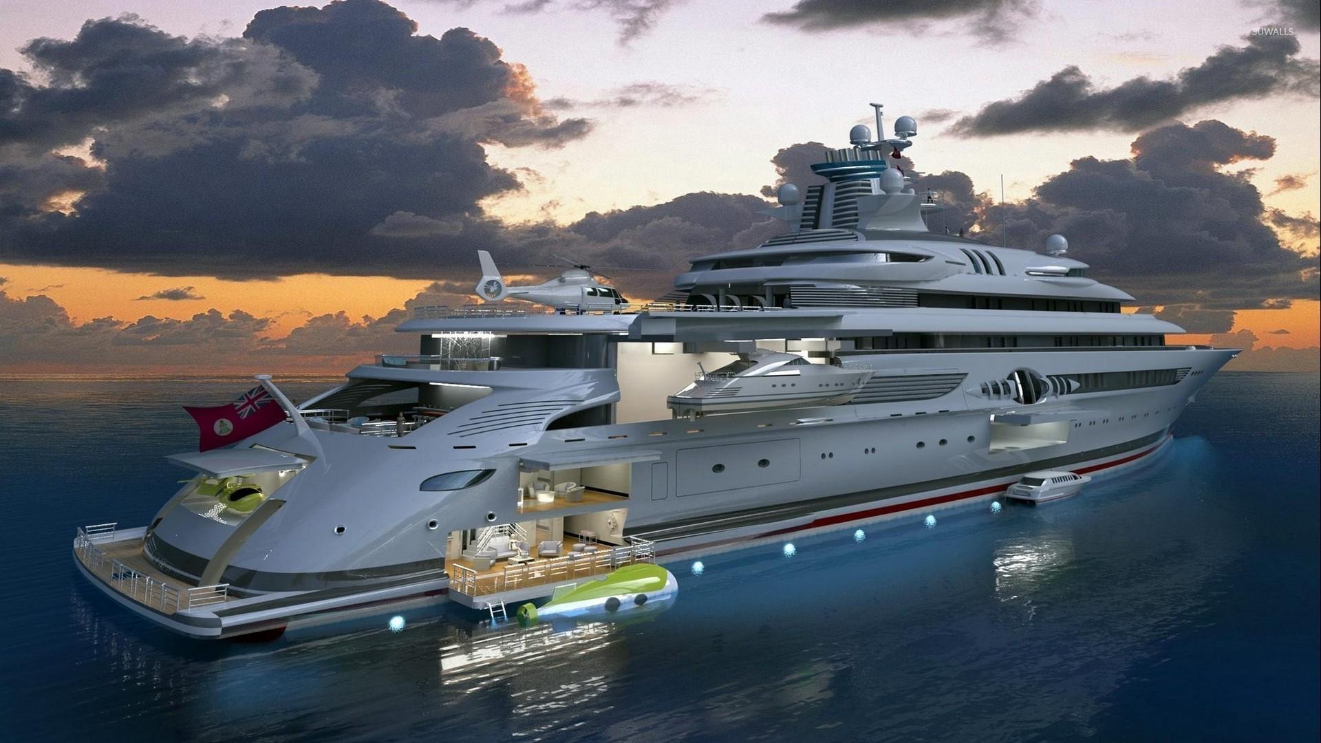 luxury super yacht wallpaper - photo #2