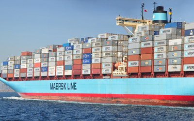 Maersk cargo ship wallpaper