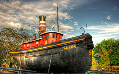 Mathilda steam ship wallpaper