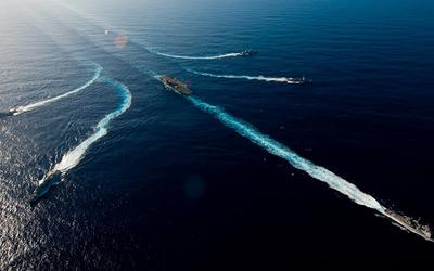 Military ships wallpaper