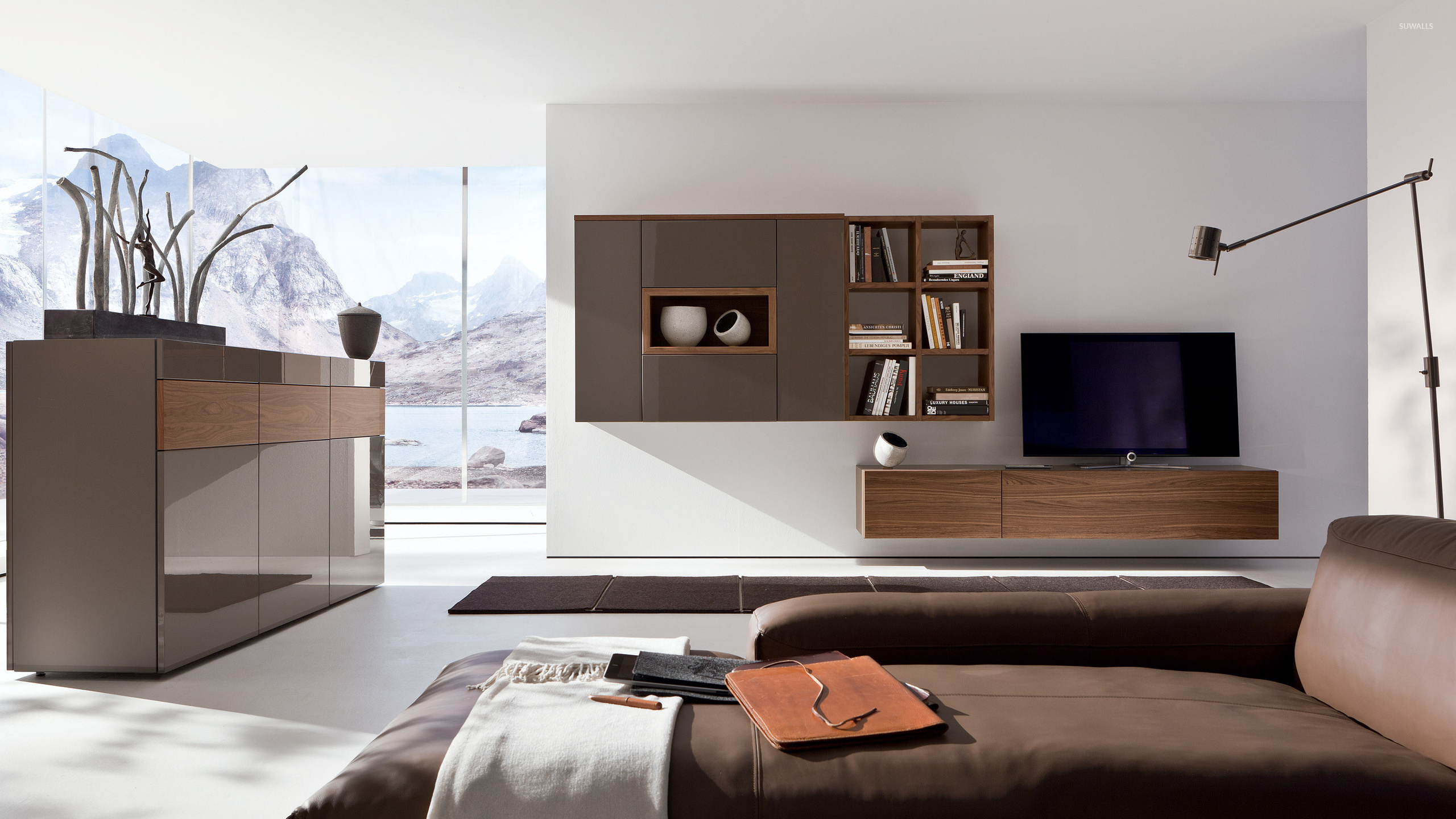Minimalistic Cozy Living Room Wallpaper Photography Wallpapers