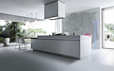 Minimalistic kitchen wallpaper