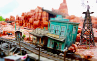 Model train western town wallpaper 2560x1600 jpg