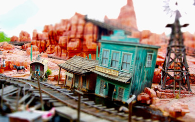 Model train western town wallpaper