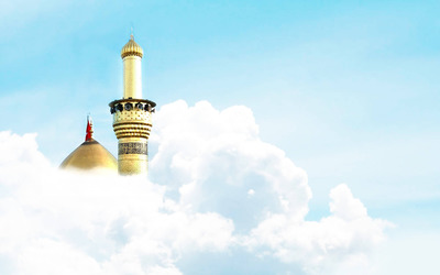 Mosque towers in the clouds wallpaper