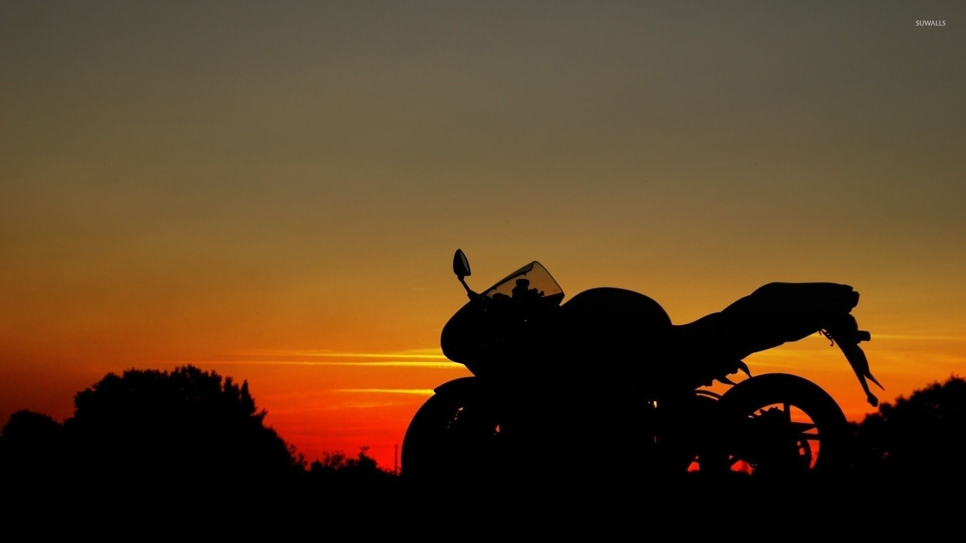 Image Gallery sunset motorcycles