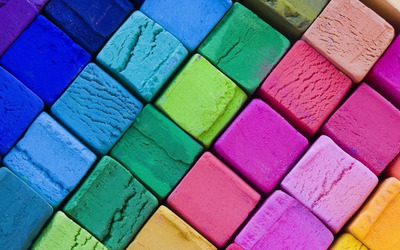 Multicolored cubes wallpaper