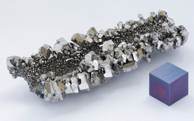 Niobium crystals wallpaper