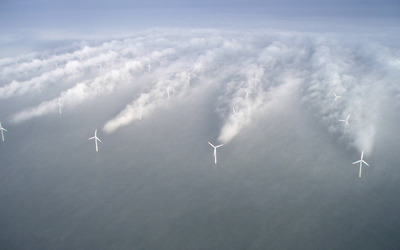 Off shore wind turbine, Denmark wallpaper