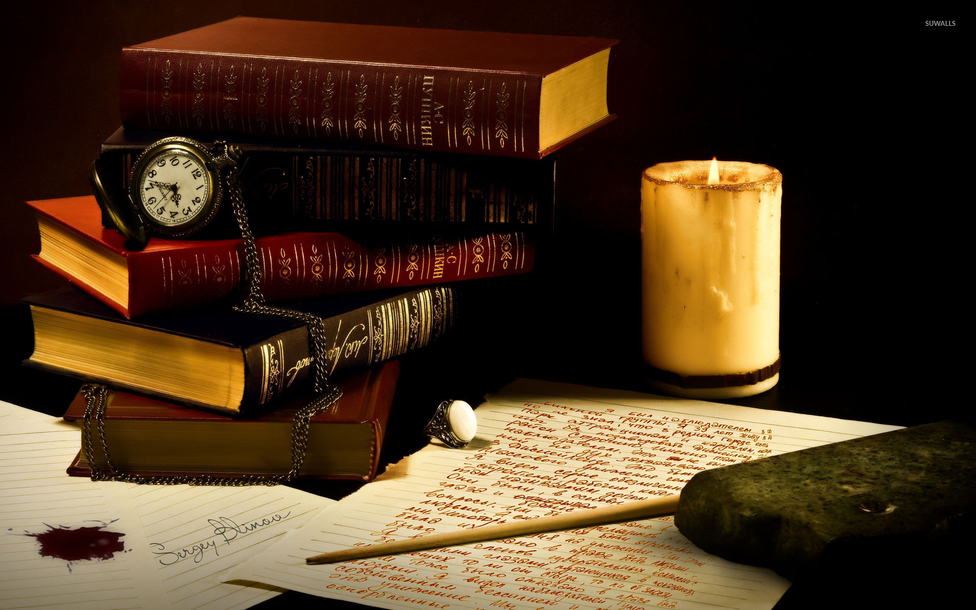Old books 3 wallpaper photography wallpapers 37393 for Book wallpaper for walls