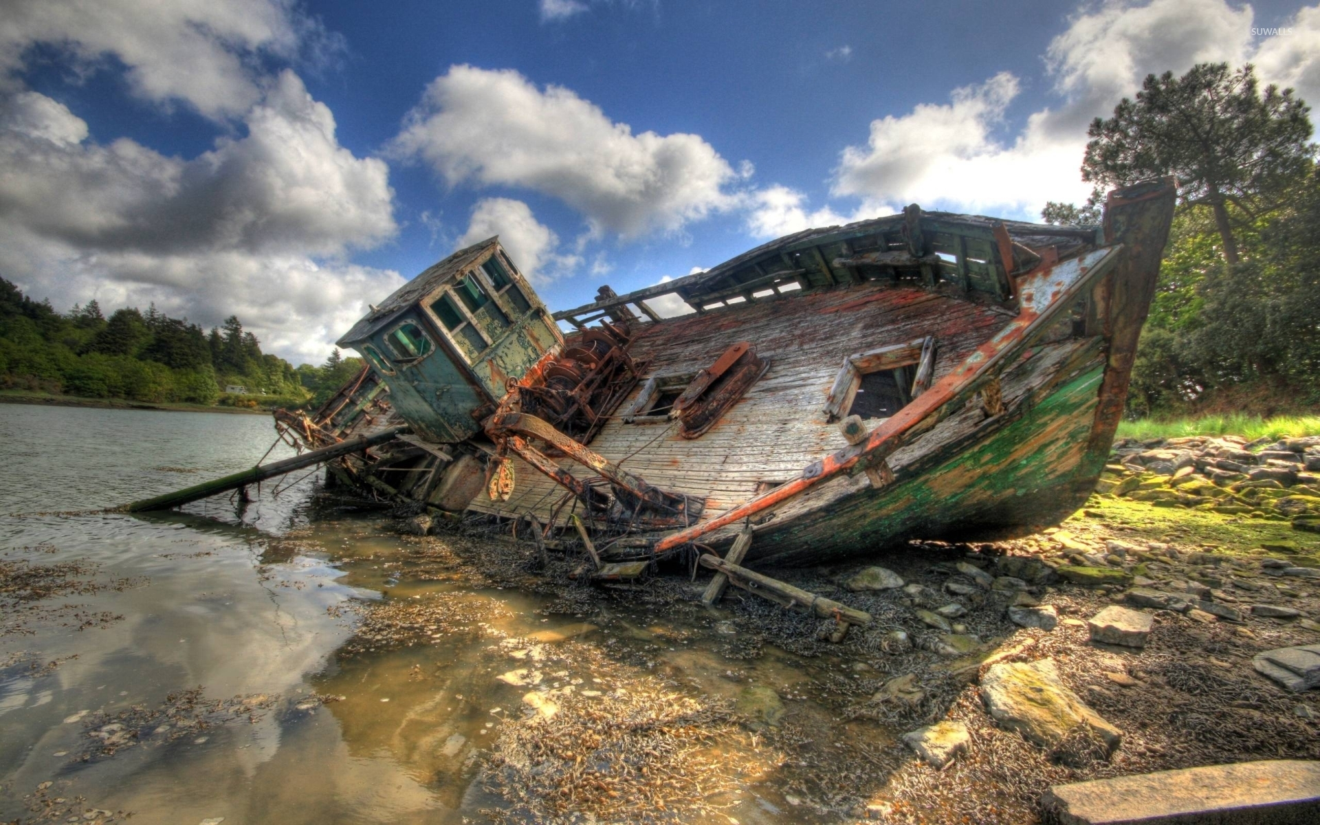 Old fishing boat wallpaper photography wallpapers 41688 for Old fishing boat
