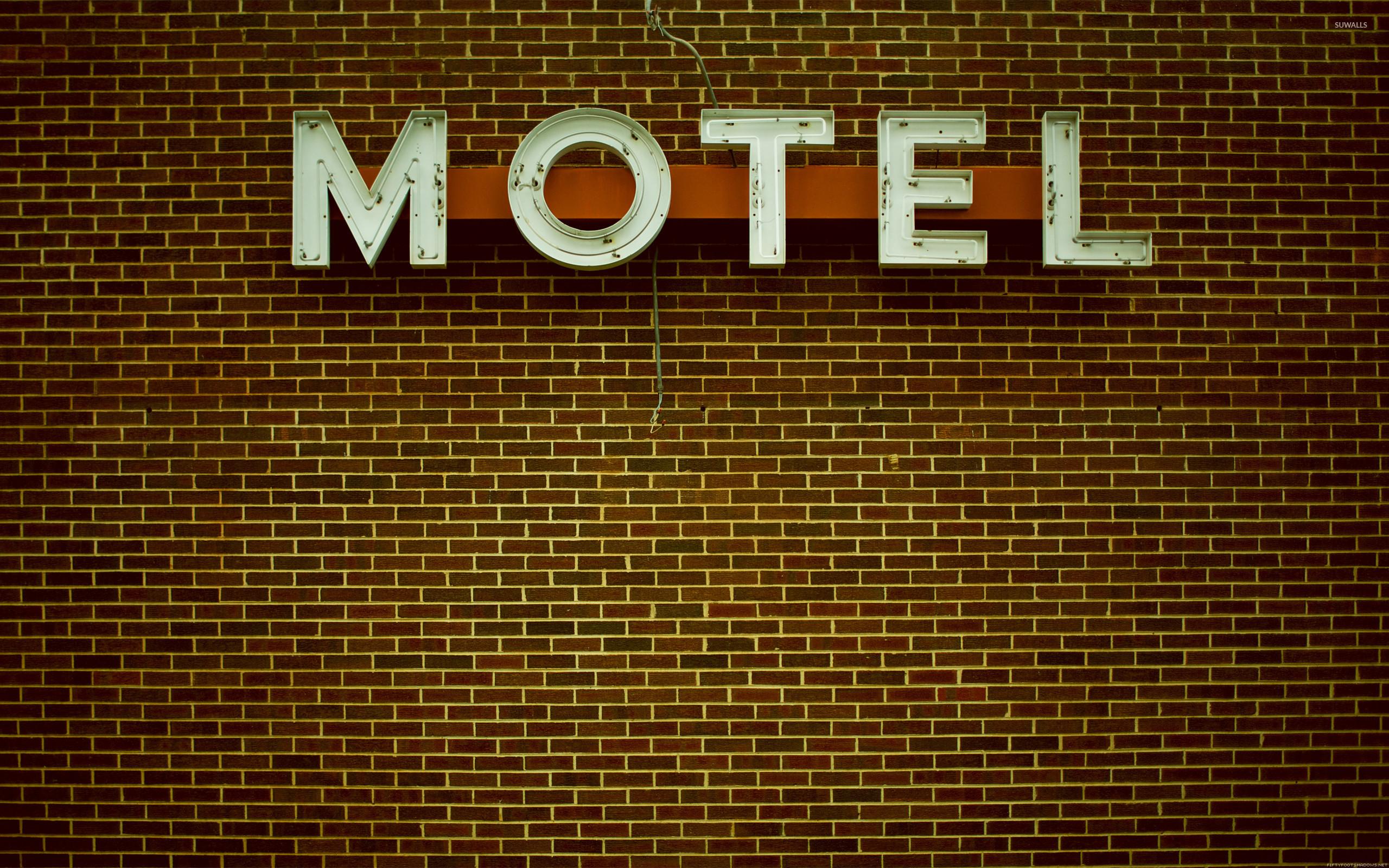 Old Motel sign wallpaper