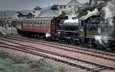 Old steam train locomotive wallpaper