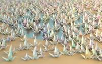 Origami cranes [3] wallpaper 1920x1080 jpg