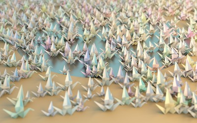 Origami cranes [3] wallpaper