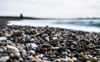 Pebbles on the beach wallpaper 1920x1200 jpg