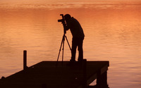 Photographer capturing the sunset wallpaper 2560x1600 jpg