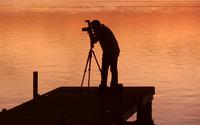 Photographer capturing the sunset wallpaper 2560x1600 jpg