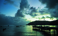Pier in Trinidad and Tobago wallpaper 1920x1200 jpg