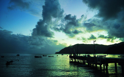 Pier in Trinidad and Tobago wallpaper