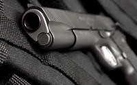 Pistol close-up wallpaper 1920x1200 jpg