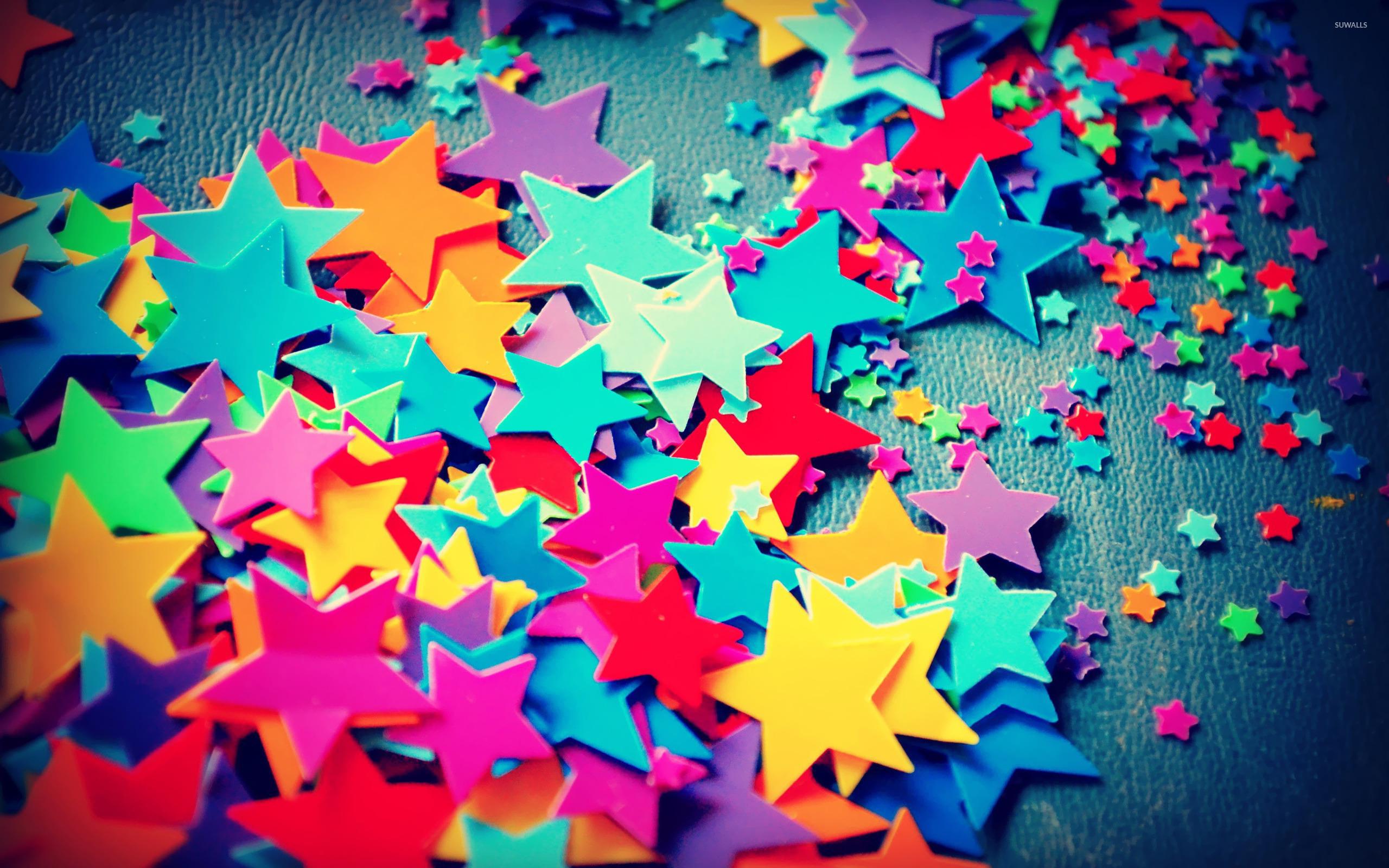 Plastic Stars Wallpaper
