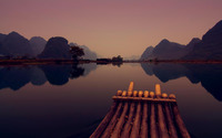 Raft on lake wallpaper 1920x1080 jpg