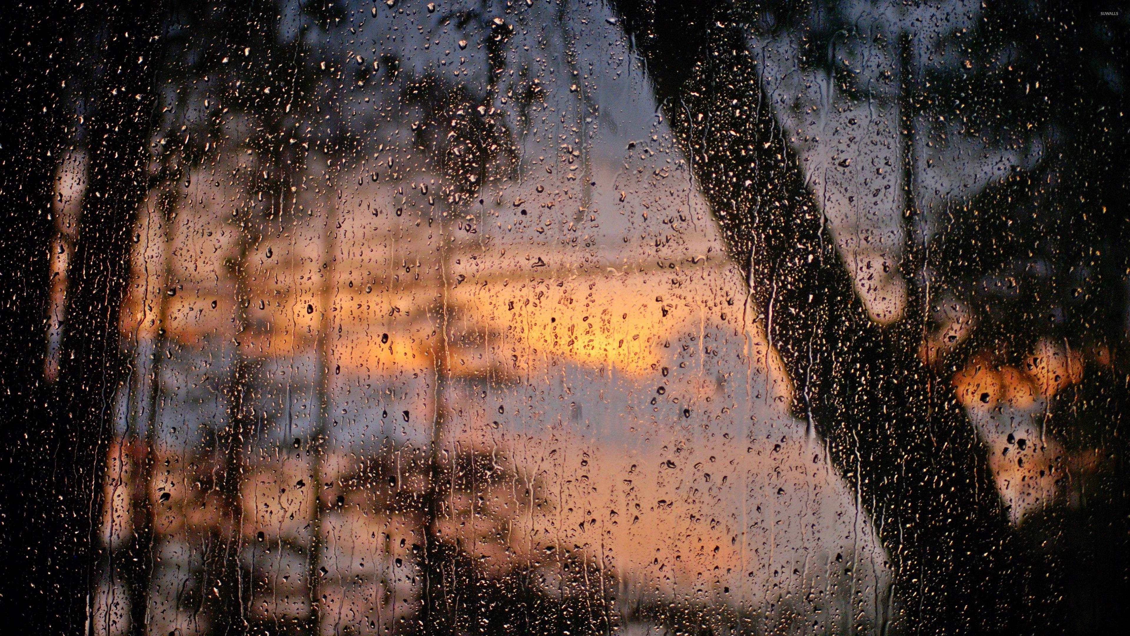 rain drops on window wallpaper photography wallpapers 38154. Black Bedroom Furniture Sets. Home Design Ideas