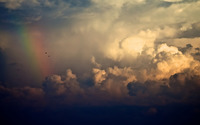 Rainbow among clouds wallpaper 1920x1080 jpg