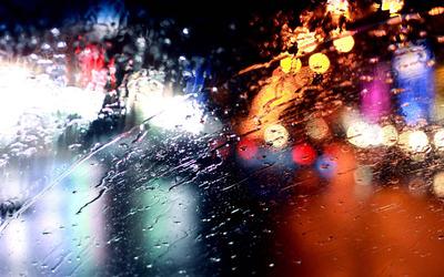 Rainy windshield wallpaper