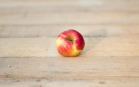 Red apple on a wooden table wallpaper 3840x2160 jpg