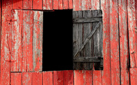 Red barn with a window opened wallpaper 2560x1600 jpg