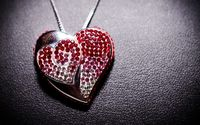 Red heart medalion wallpaper 1920x1200 jpg
