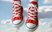 Red sneakers in the sky wallpaper 1920x1200 jpg