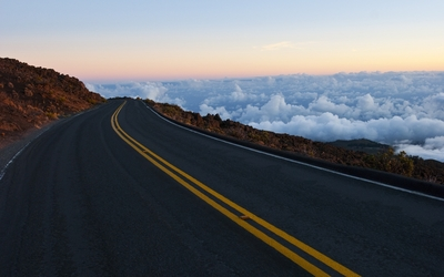 Road above the clouds Wallpaper